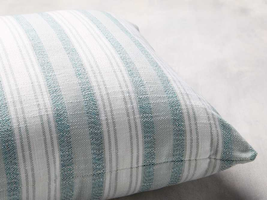Beach Stripe Indoor/Outdoor Pillow in Surf, slide 2 of 4