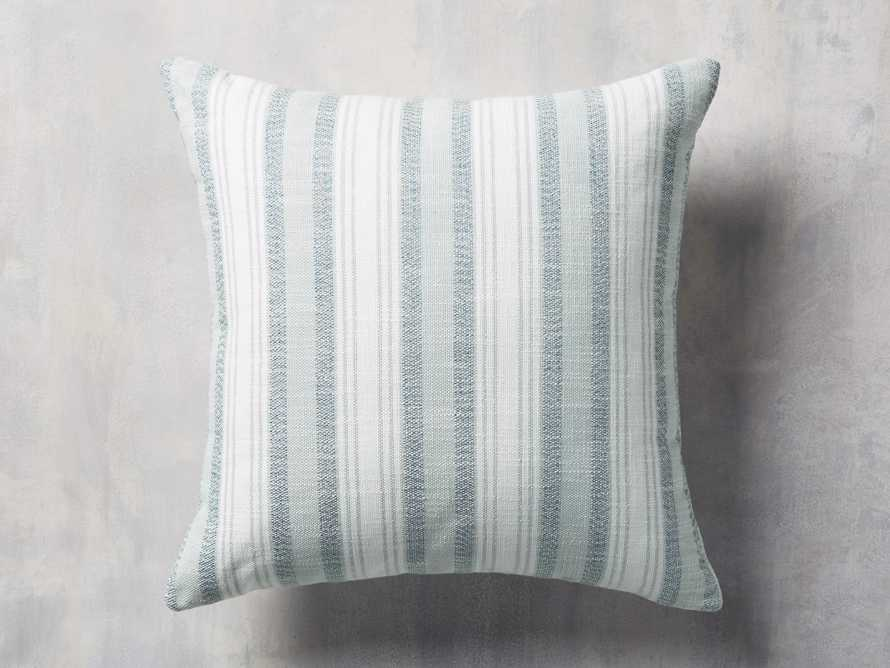 Beach Stripe Indoor/Outdoor Pillow in Surf, slide 1 of 4