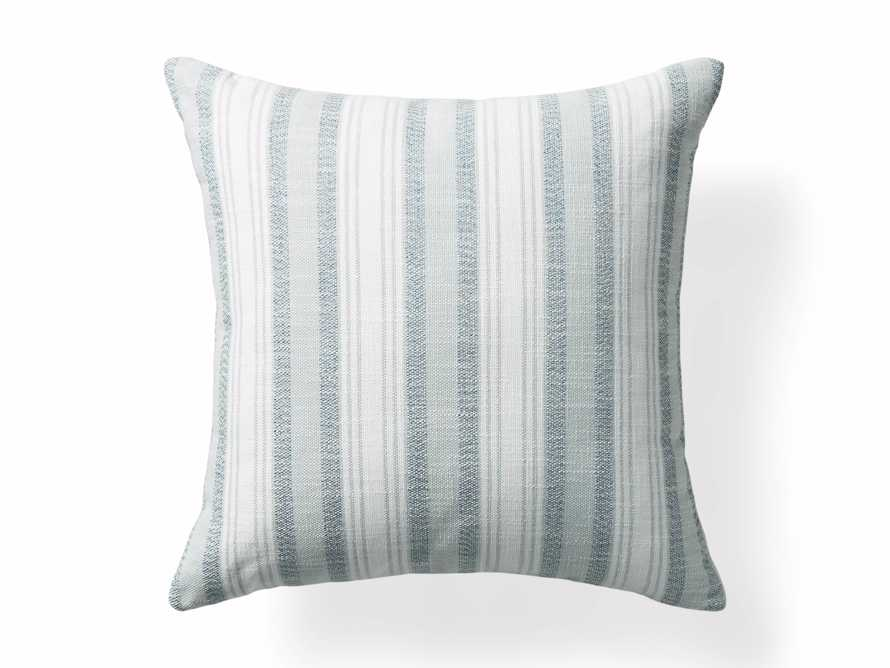 Beach Stripe Indoor/Outdoor Pillow in Surf, slide 3 of 4