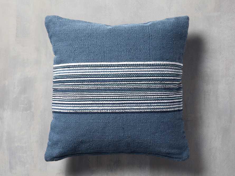 Berks Striped Indoor/Outdoor Pillow in Navy, slide 1 of 4
