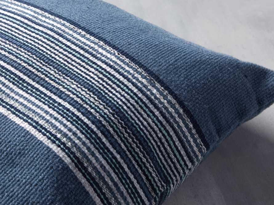 Berks Striped Indoor/Outdoor Pillow in Navy, slide 2 of 4