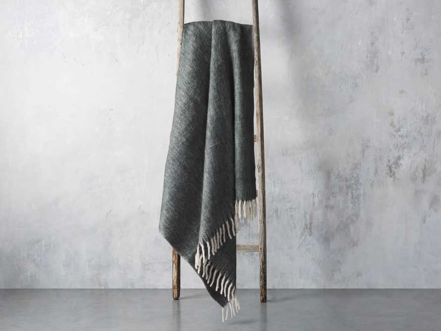 Brushed Heathered Throw in Green, slide 2 of 3