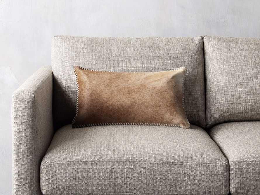 Whipsch Hide Lumbar Pillow In Tan