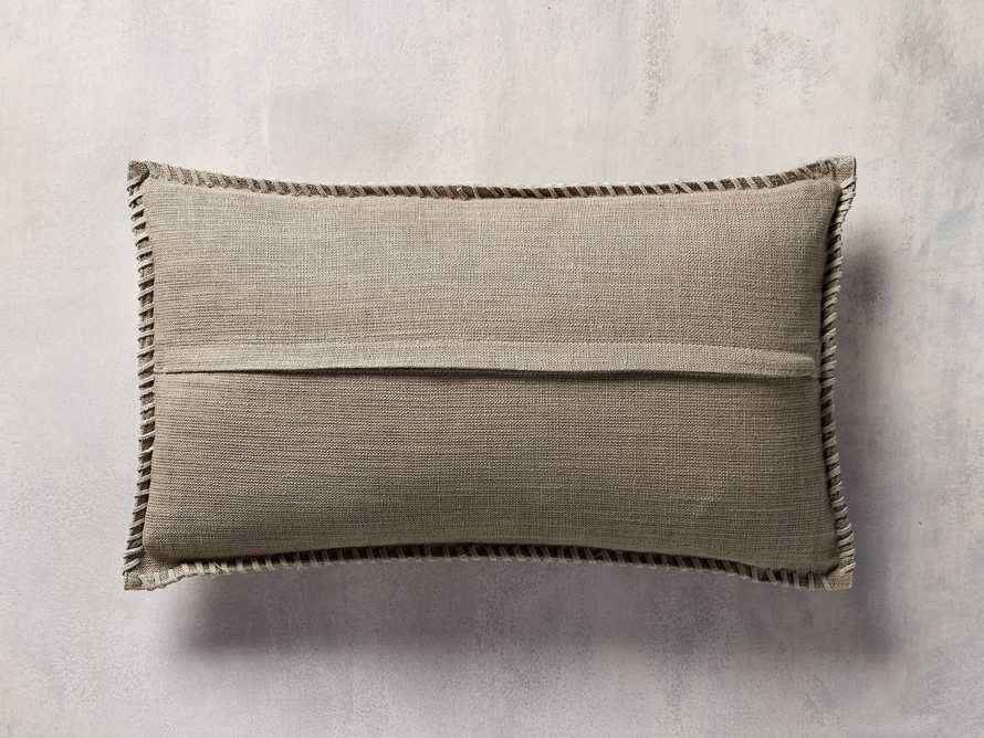 "Whipstitch Hyde Lumbar 20"" Pillow"