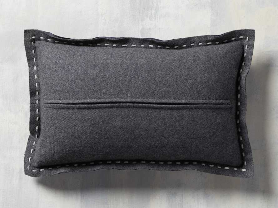 Hide Stitch Lumbar Pillow in Blue, slide 4 of 4