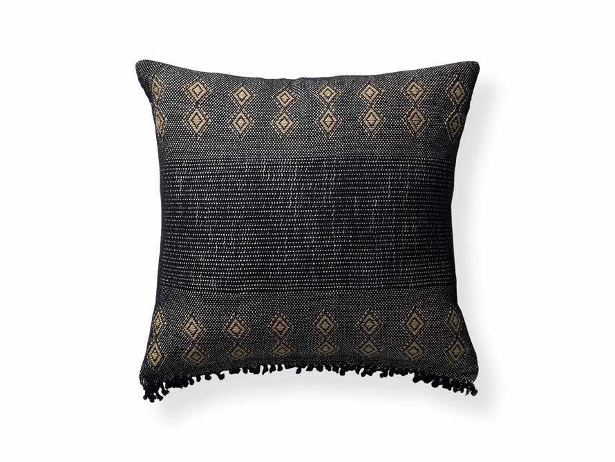"Agua Moon 20"" Pillow in Black"
