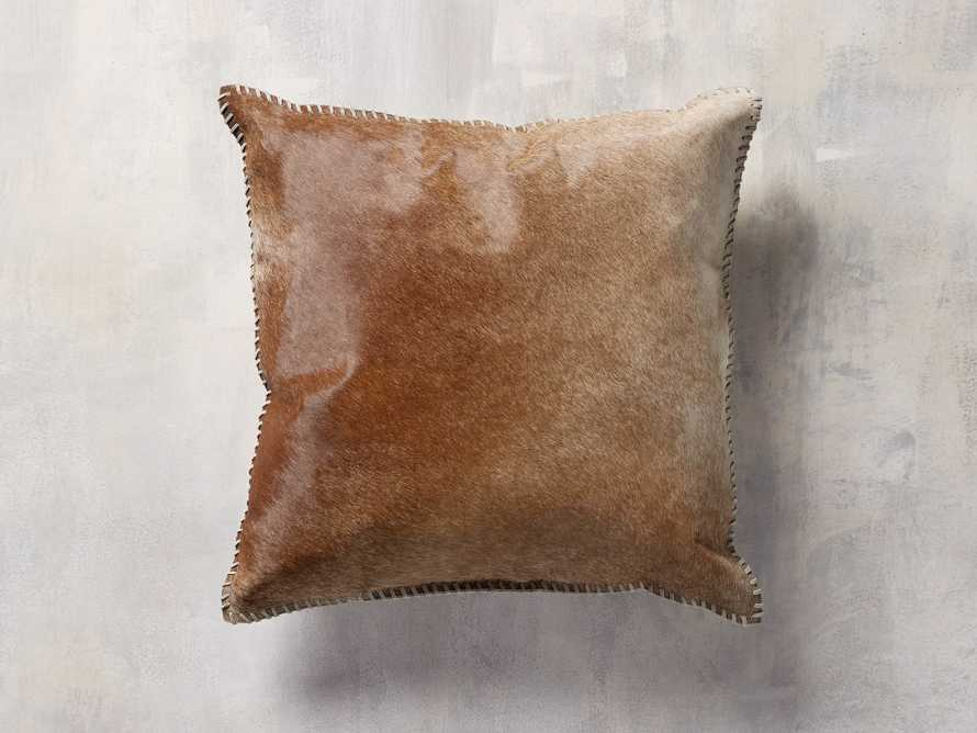 WHIPSTITCH HIDE SQUARE PILLOW COVER IN BROWN, slide 1 of 6