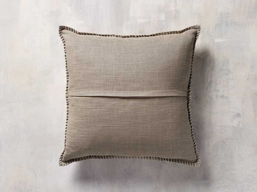 WHIPSTITCH HIDE SQUARE PILLOW COVER IN BROWN, slide 6 of 6