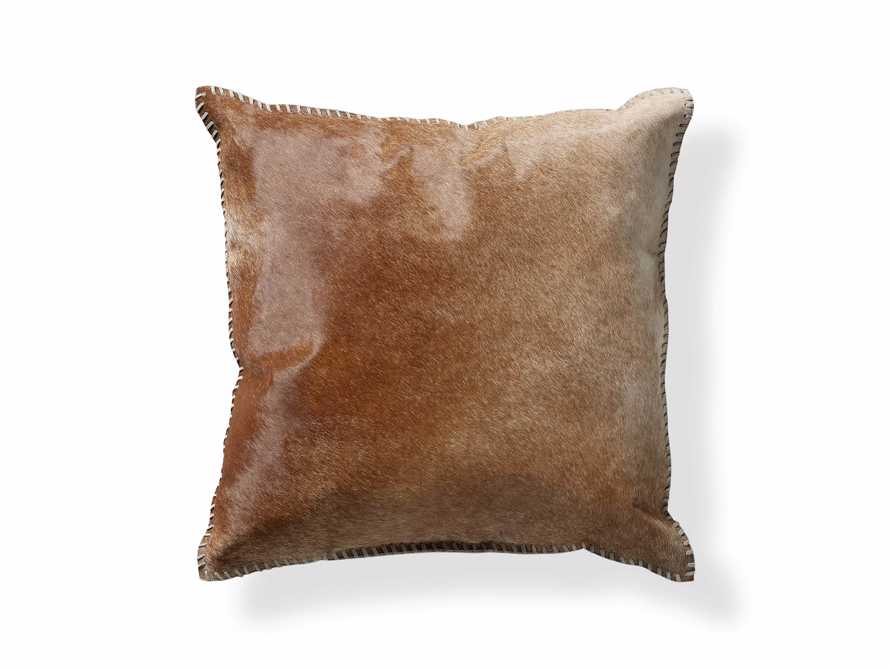WHIPSTITCH HIDE SQUARE PILLOW COVER IN BROWN, slide 5 of 6