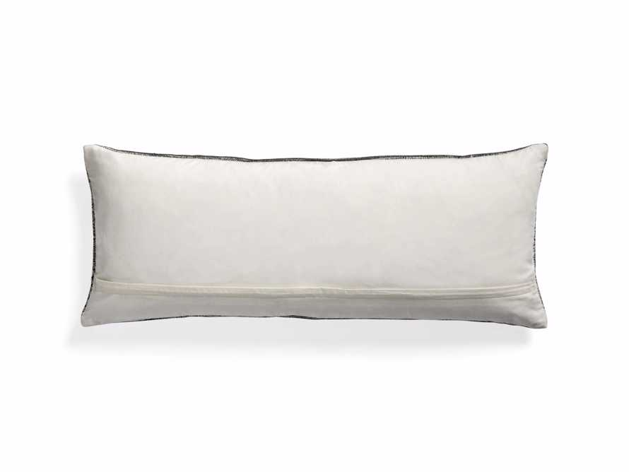 "Charcoal-Embroidered Antique-Print 14"" x 36"" Lumbar Pillow, slide 4 of 6"