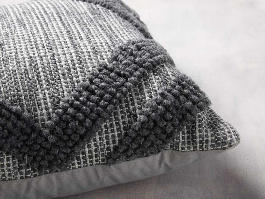 Capitola Outdoor Pillow in Charcoal, slide 3 of 5