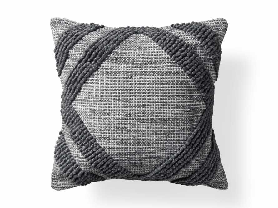 Capitola Outdoor Pillow in Charcoal, slide 4 of 5