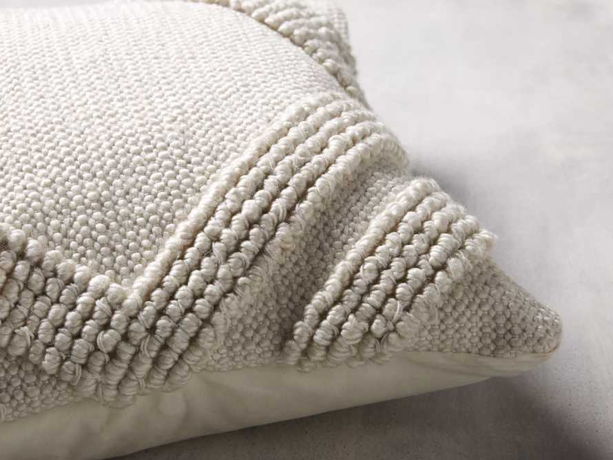 Capitola Pillow in Ivory, slide 3 of 8