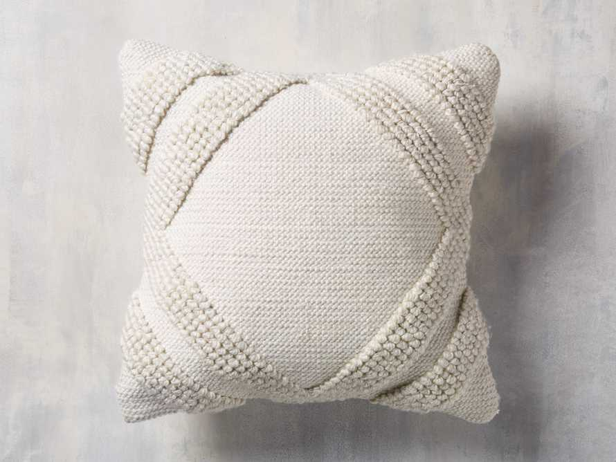 Capitola Pillow in Ivory, slide 1 of 8