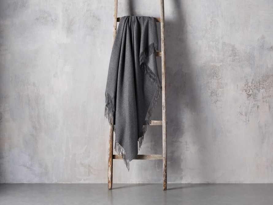 Cashmere Throw in Dark Grey, slide 2 of 3