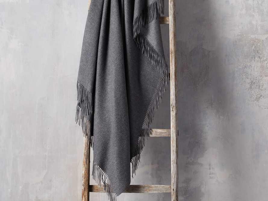 Cashmere Throw in Dark Grey, slide 1 of 3
