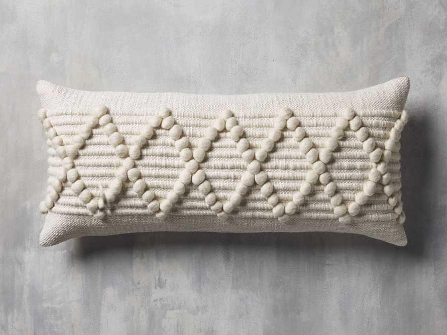 """Chunky Diamond 31"""" Lumbar Pillow, slide 3 of 8"""