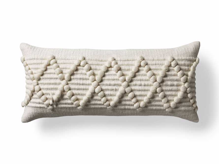"""Chunky Diamond 31"""" Lumbar Pillow, slide 7 of 8"""