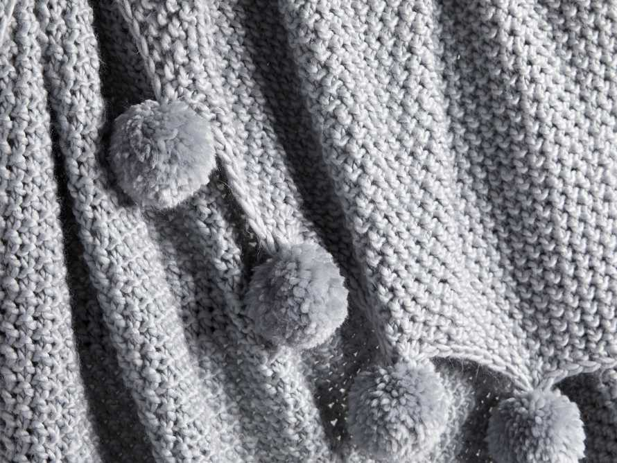 """Chunky Knit 50"""" Throw with Pom Poms, slide 3 of 4"""