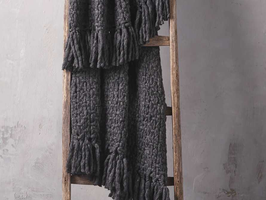 Chunky Knit Charcoal Throw, slide 1 of 3