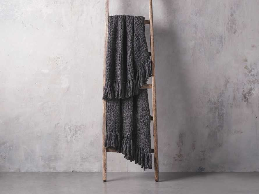 Chunky Knit Charcoal Throw, slide 2 of 3