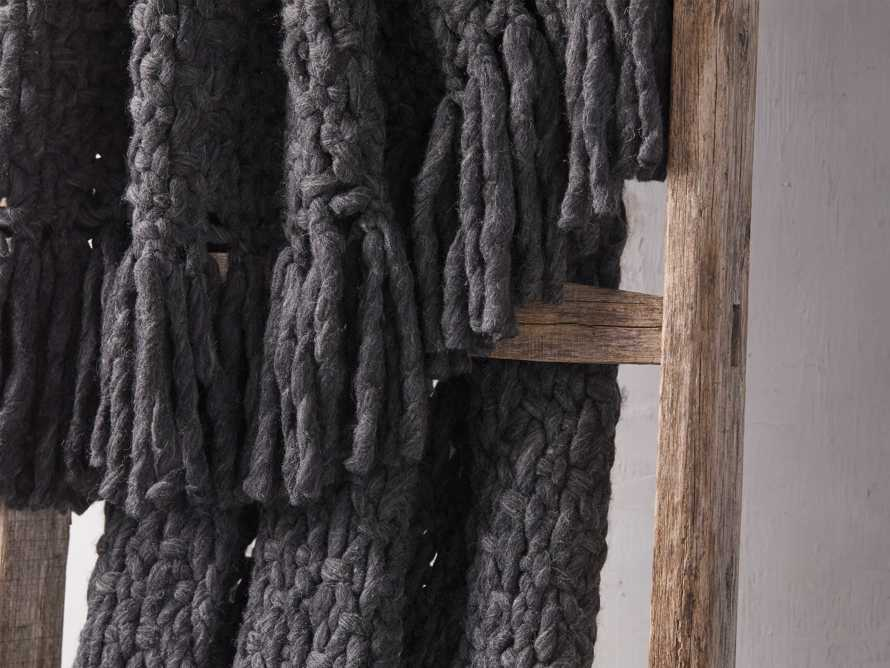 Chunky Knit Charcoal Throw, slide 3 of 3