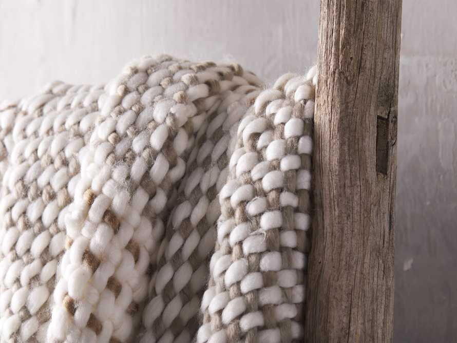 Chunky Knit Grey and Ivory Throw, slide 3 of 4