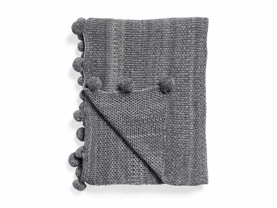 Chunky Knit Pom Pom Throw