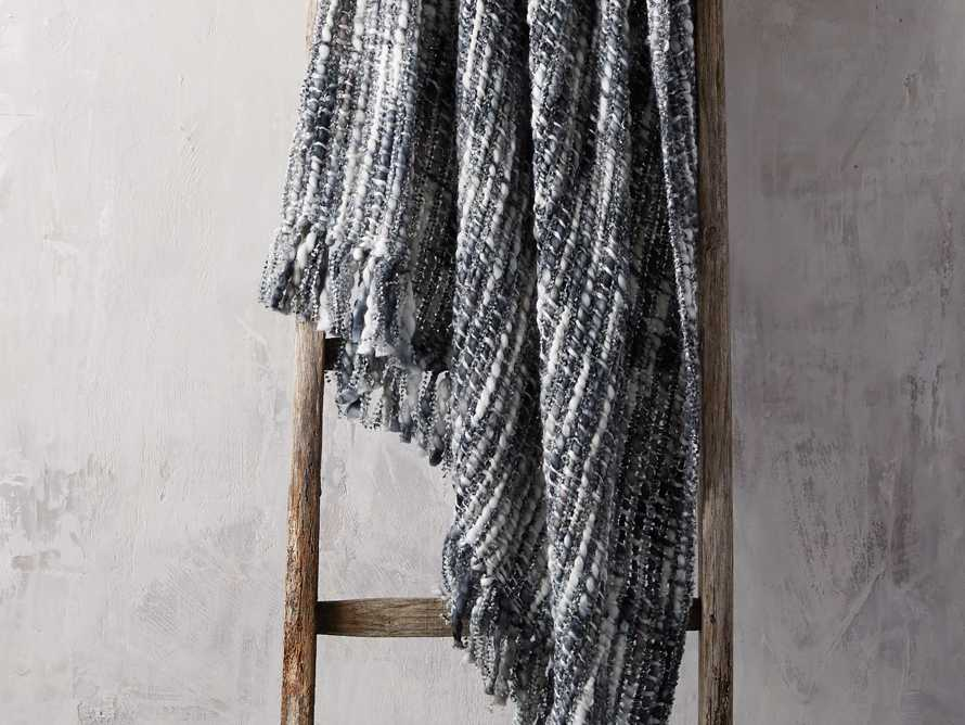 Chunky Knit Grey and Black Throw