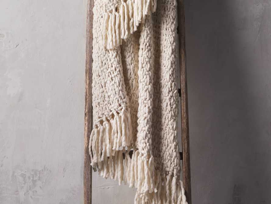 Chunky Knit Ivory Throw, slide 1 of 4