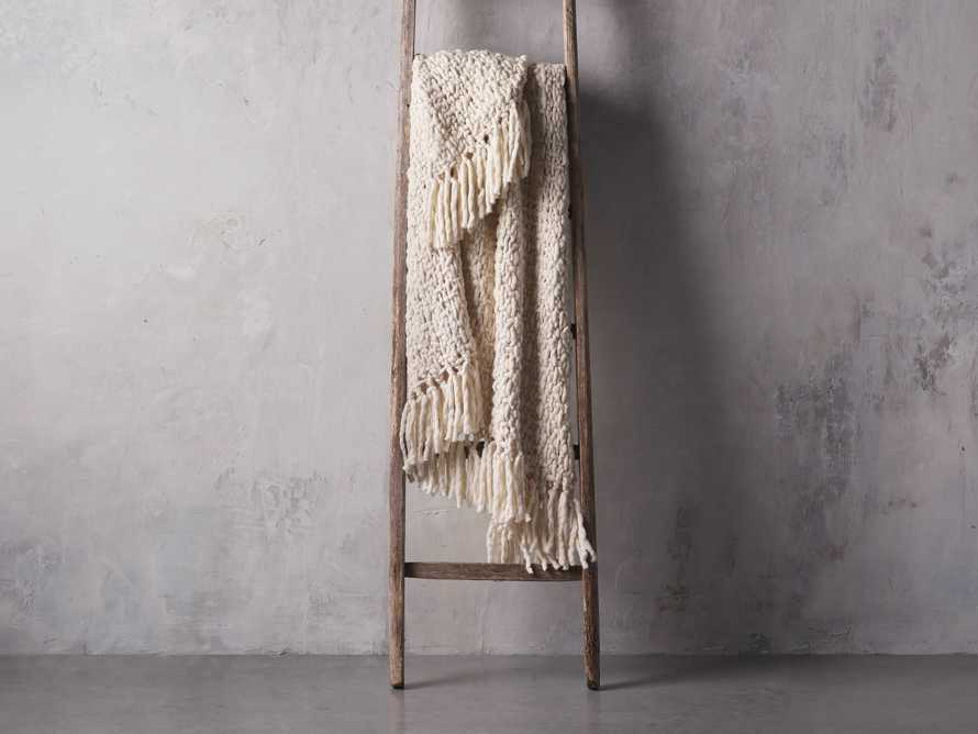 Chunky Knit Ivory Throw, slide 2 of 4