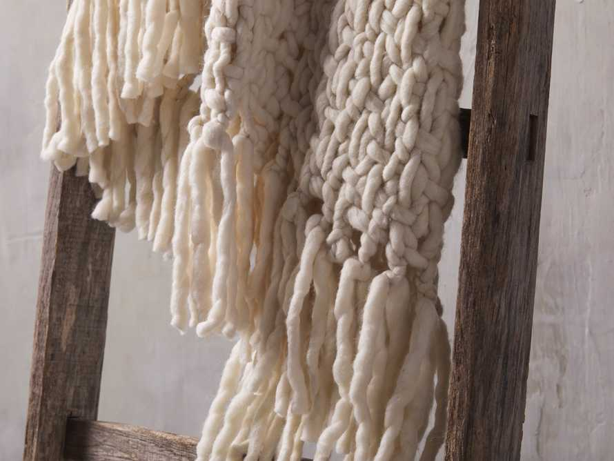 Chunky Knit Ivory Throw, slide 3 of 4
