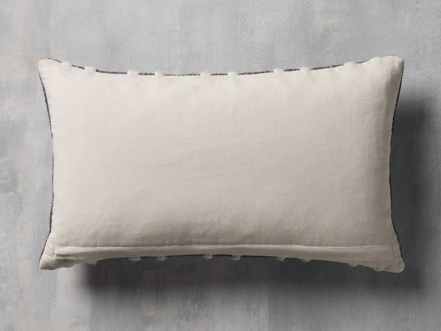 CHUNKY STRIPE LUMBAR PILLOW COVER IN CHARCOAL, slide 2 of 4