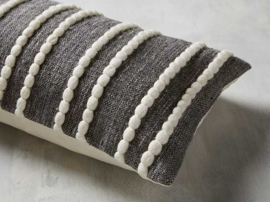 CHUNKY STRIPE LUMBAR PILLOW COVER IN CHARCOAL, slide 3 of 4