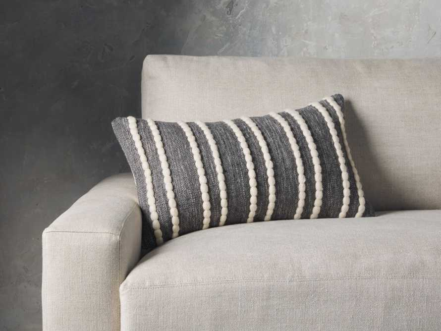 CHUNKY STRIPE LUMBAR PILLOW COVER IN CHARCOAL, slide 4 of 4