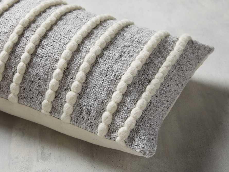 "Chunky Stripe 24"" Lumbar Pillow in Light Grey, slide 4 of 4"
