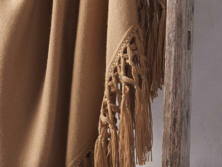 Baby Alpaca Crocheted Throw in Camel, slide 3 of 4
