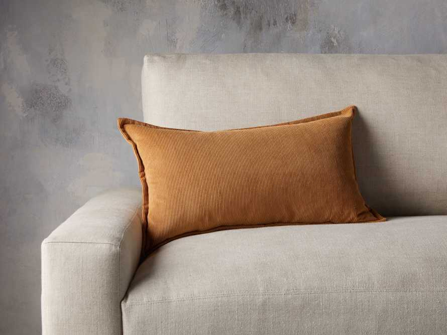 Fine Whale Corduroy Pillow Cover in Dijon, slide 3 of 4