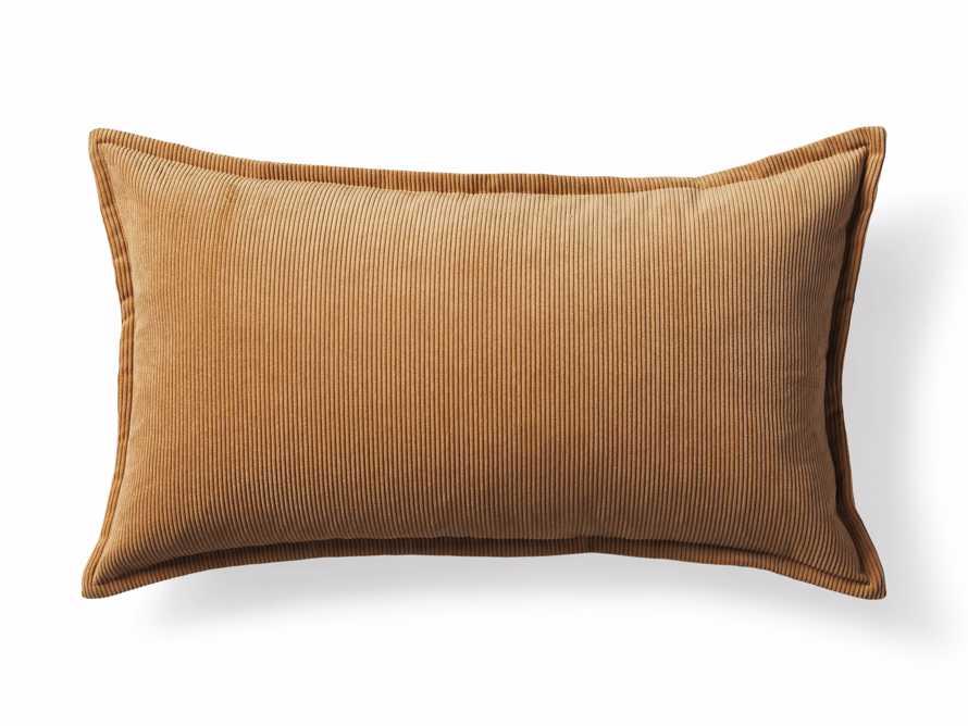 Fine Whale Corduroy Pillow Cover in Dijon, slide 4 of 4