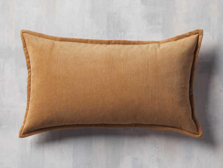 Fine Whale Corduroy Pillow Cover in Dijon, slide 1 of 4