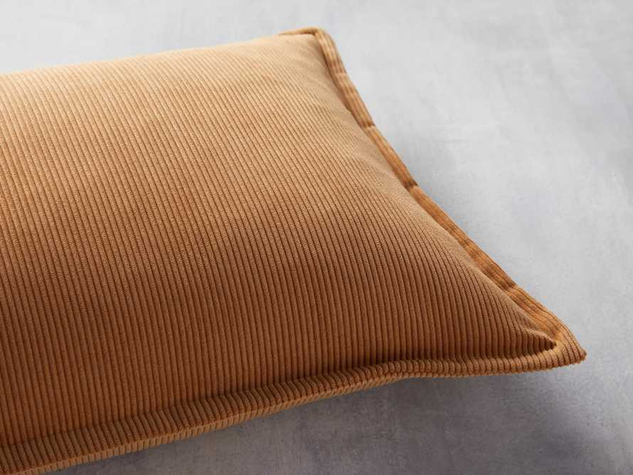 Fine Whale Corduroy Pillow Cover in Dijon, slide 2 of 4