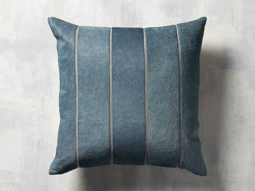 channel-stitch hide pillow in Blue, slide 3 of 5