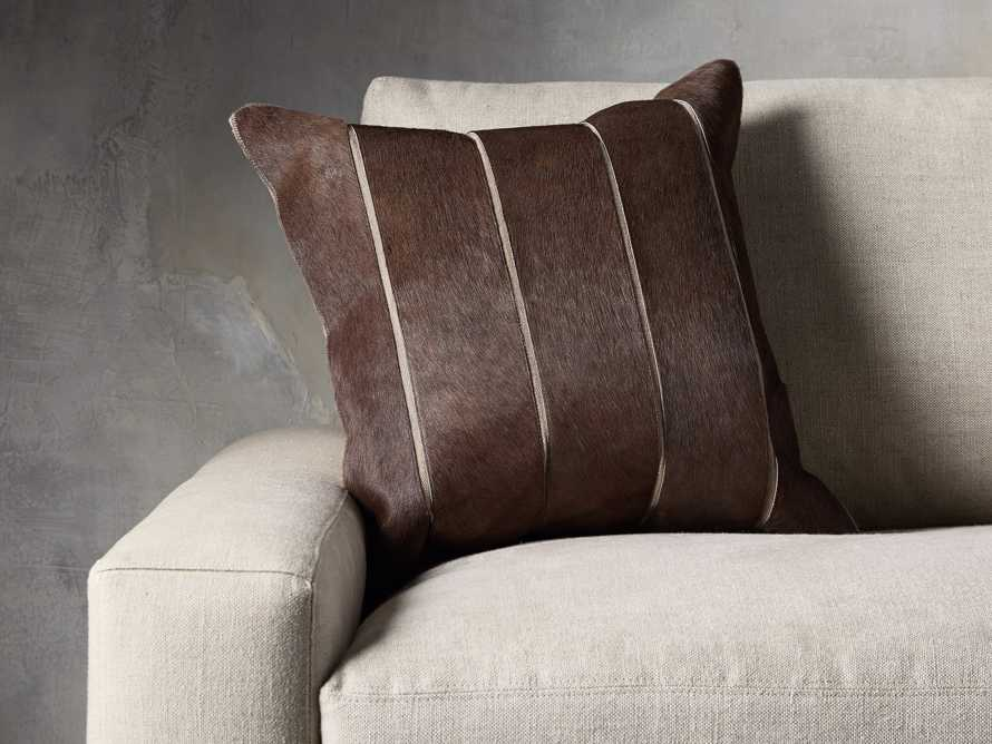 Channel Stitch Hide Brown Pillow Cover, slide 4 of 4