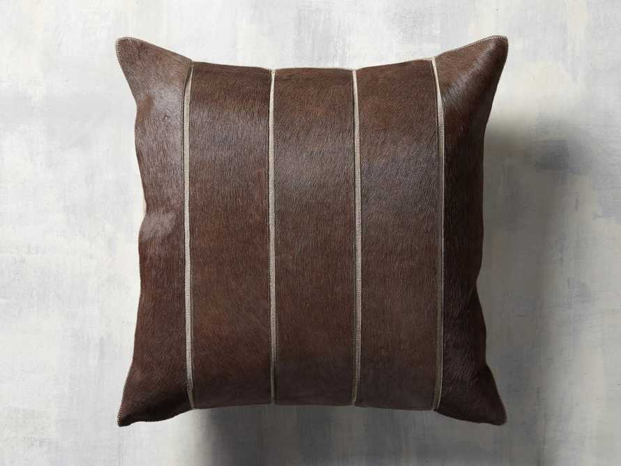 Channel Stitch Hide Brown Pillow Cover, slide 1 of 4