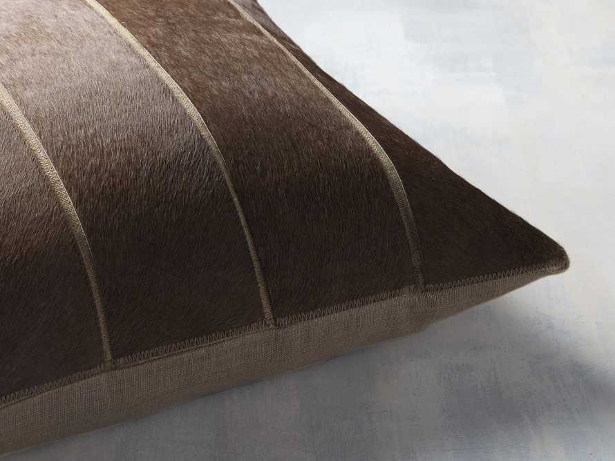 Channel Stitch Hide Brown Pillow Cover, slide 3 of 4