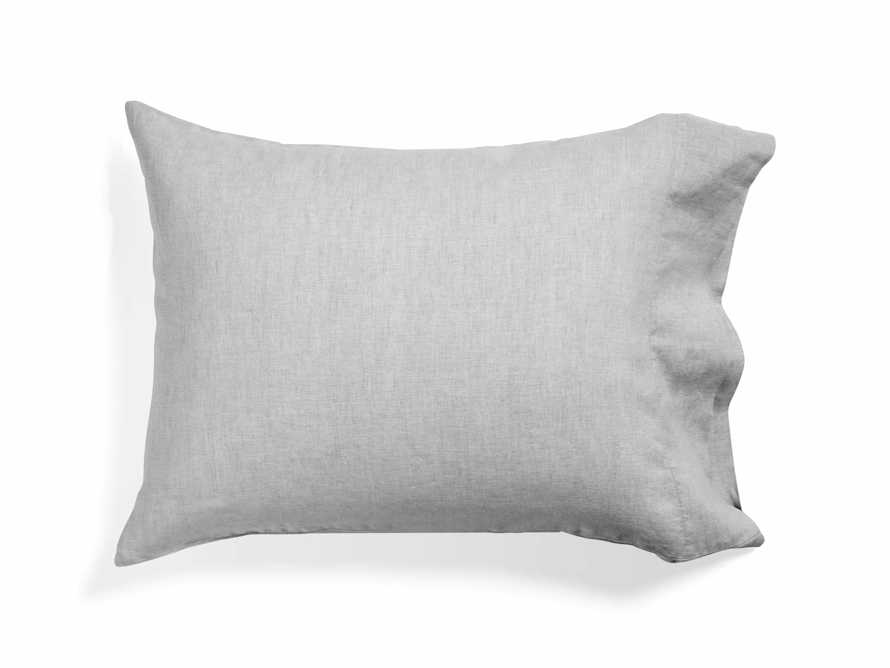 Linen Standard Pillow Cases in Chambray Dove (Pair)