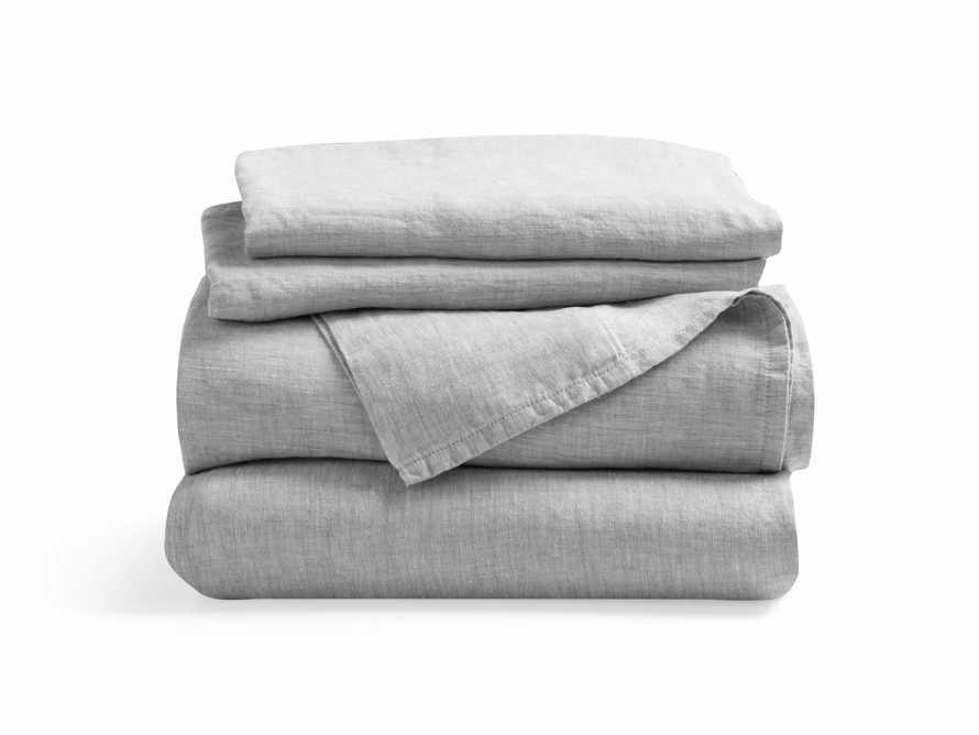 Linen Full Sheet Set in Chambray Dove, slide 2 of 3