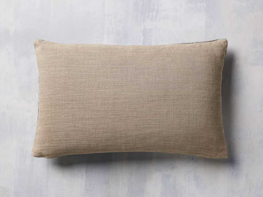 Whipstitch Hide Lumbar Pillow in Grey, slide 3 of 5