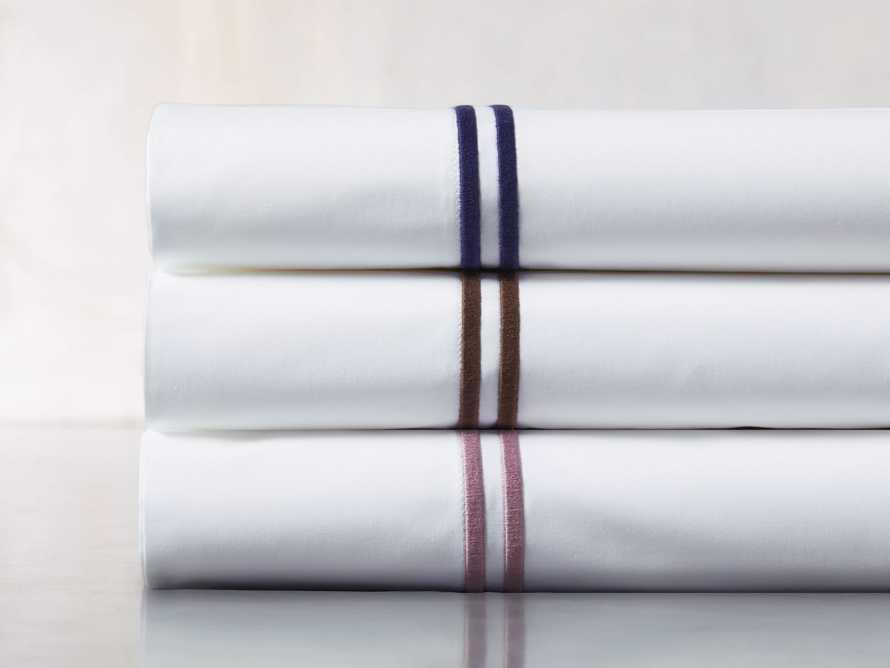 Italian Hotel Double-Stitch Queen Sheet Set in Navy, slide 3 of 3