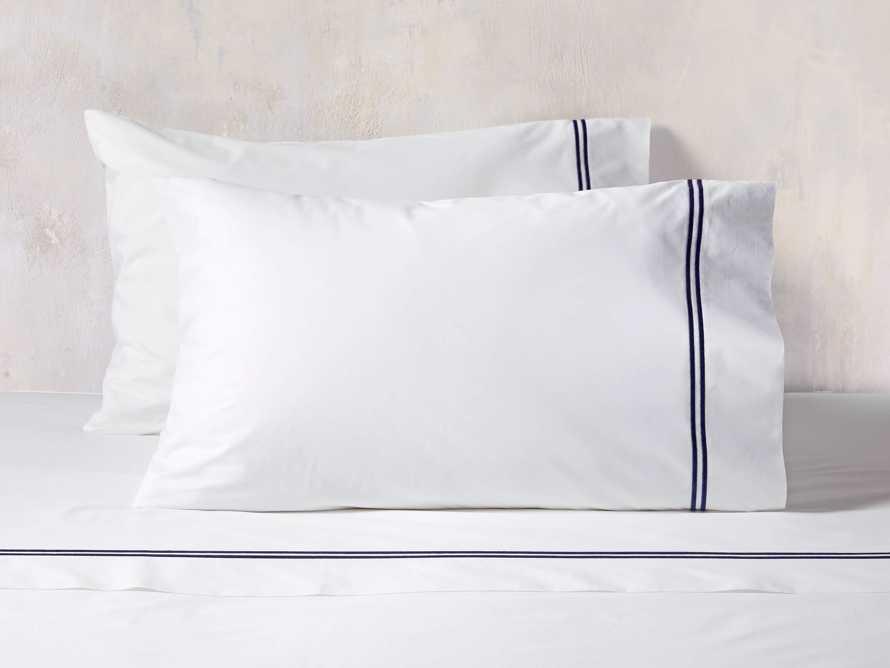 Italian Hotel Double-Stitch Standard Pillow Case in Navy, slide 1 of 1